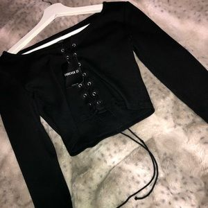 Forever 21 cropped long sleeve.